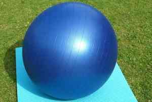 Exercise ball for Pilates or physiotherapy in Melbourne, Clifton Hill and Fitzroy