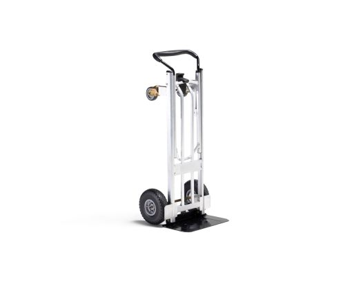 upright moving dolly made of aluminum converts to hand cart for easy loading and moving