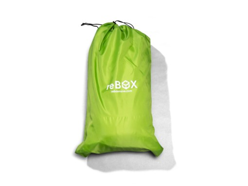 polyester bedding bag with drawstring closed full of a king size bedding kit