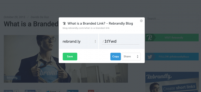 rebrandly share