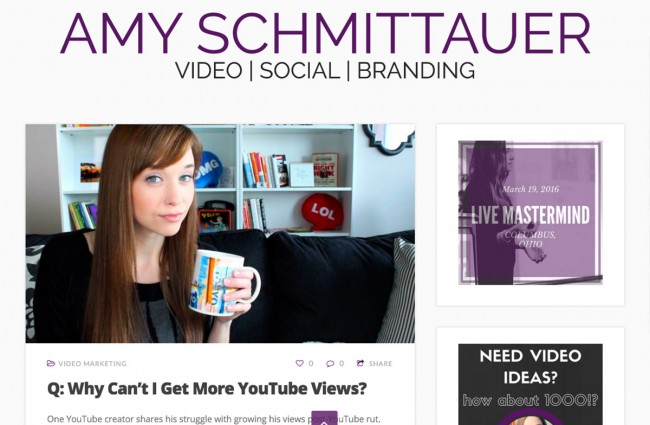 Amy Social Personal Branding Example