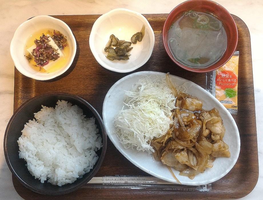オリジン弁当 イートイン 生姜焼き定食