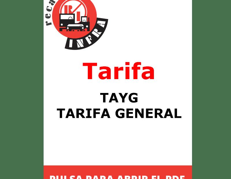 recambios-infra-TAYG-Tarifa General