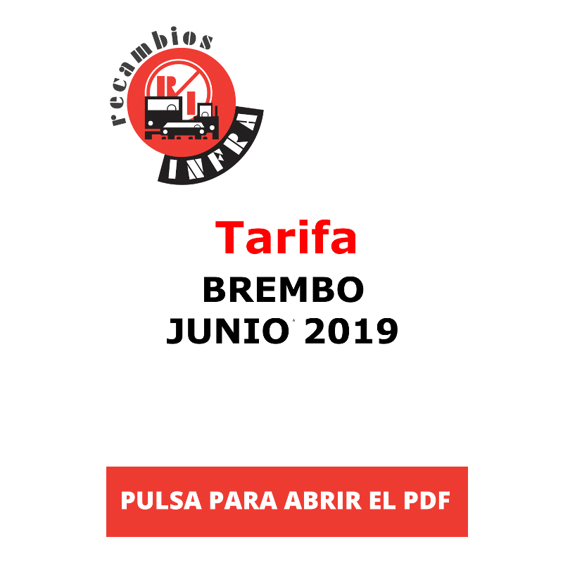 recambios-infra-Tarifa Brembo junio 2019