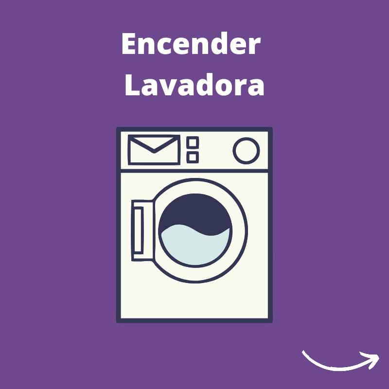 pictograma encender la lavadora