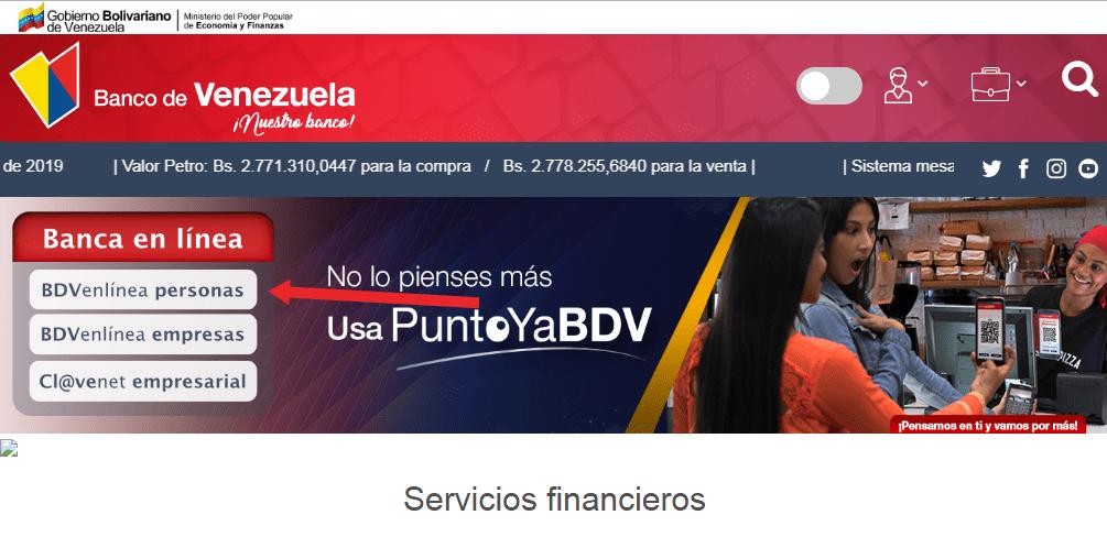 Banco de Venezuela en Linea