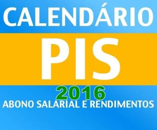 Calendário do PIS 2016