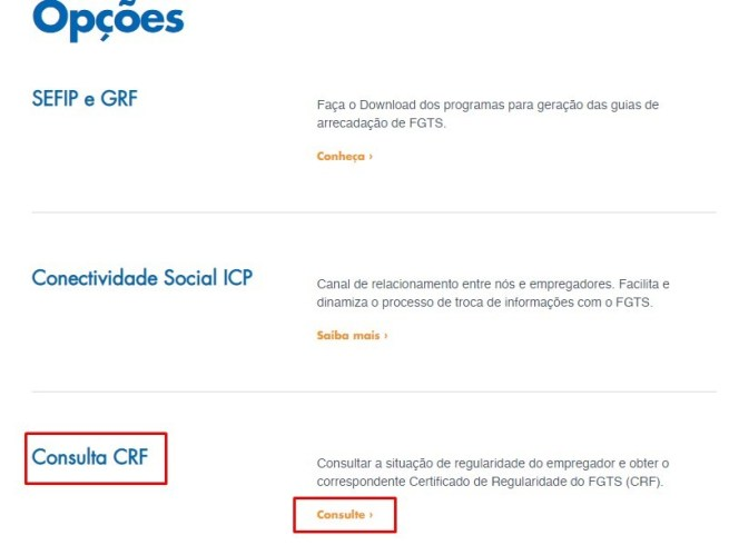Certificado de Regularidade do FGTS