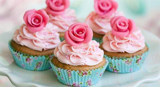 Modelo de cupcakes enfeitados