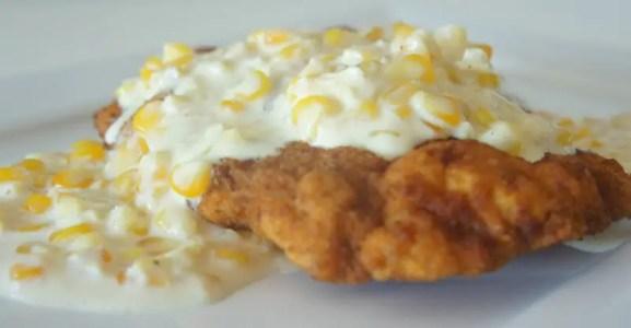 Receita de frango empanado com creme de milho