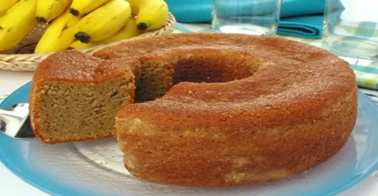 Receita de Bolo de Banana Fácil de liquidificador