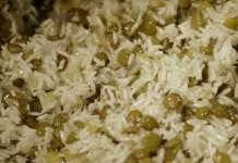 Receita de Arroz com lentilha