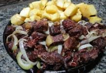 Receita de Carne de sol com mandioca