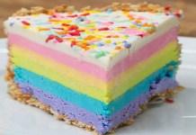Receita de Cheesecake arco-íris