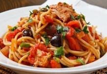 Receita de Espaguete a Putanesca