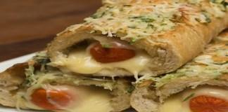 Receita de Hot dog no pão de alho