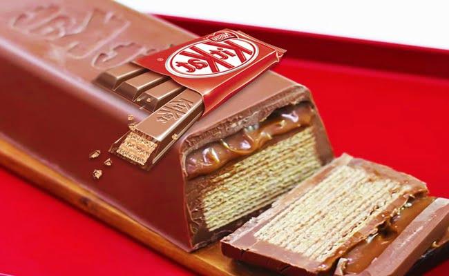 Receita de Kit Kat gigante