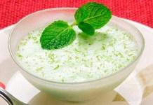 receita de Mousse de iogurte e lima