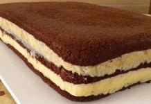 Receita de Pão de Ló de Chocolate com Recheio de brigadeiro branco