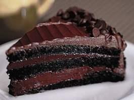 Receita de Torta de Chocolate com Café Diet