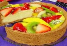 Receita de Torta de frutas Variadas