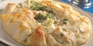 Receita de Torta folhada de legumes para Diabéticos