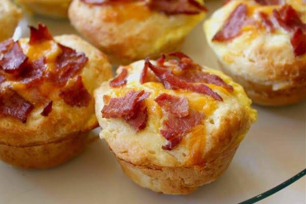 Receita Muffins de Bacon fácil