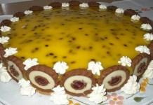 Receita de Torta Holandesa de Maracujá