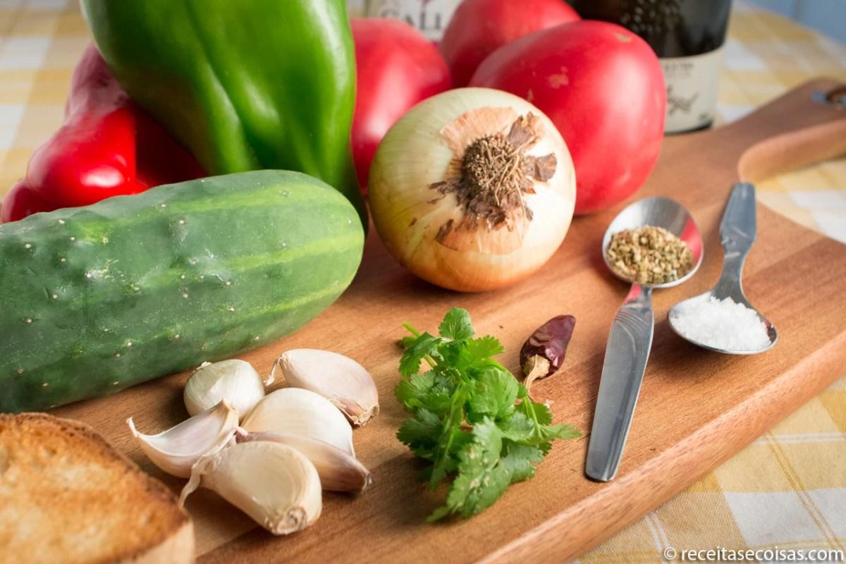 Legumes para gaspacho
