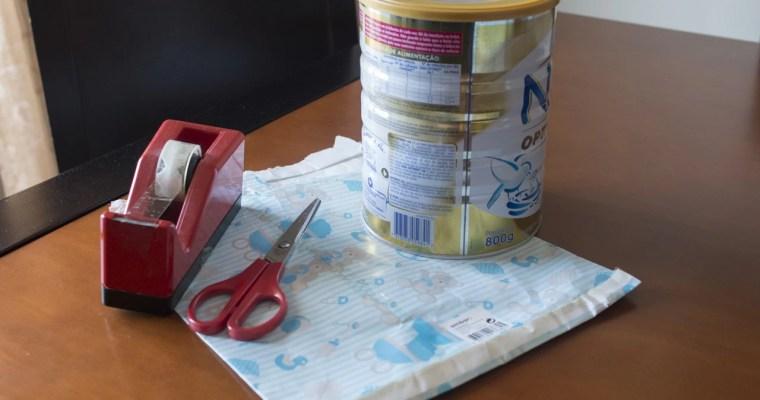Reutilizar latas de leite para bebé