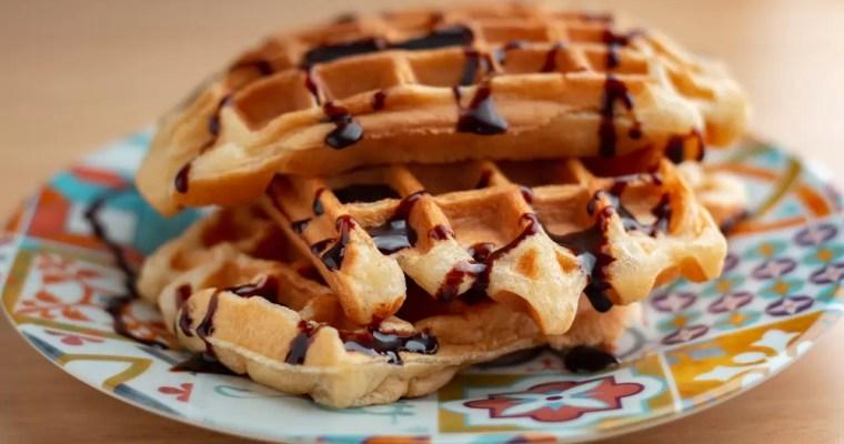Waffle estilo Belga sem glúten