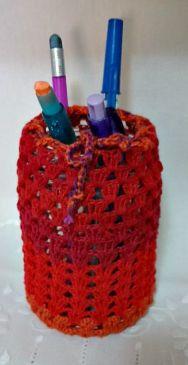 Crochê - Porta lápis