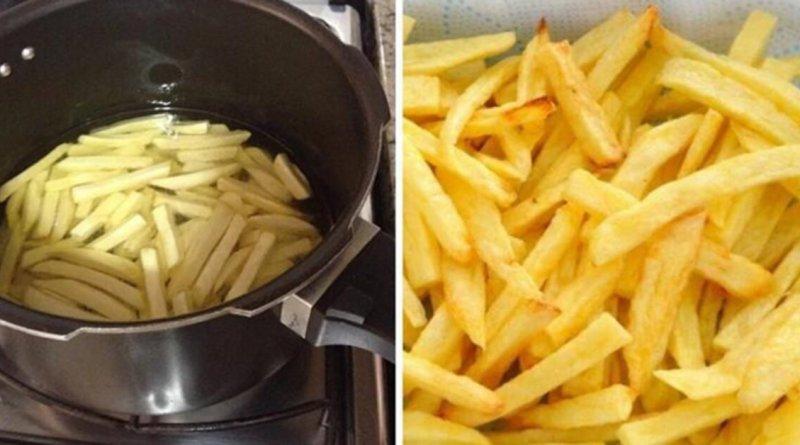 Batata frita na panela de pressão em 3 minutos
