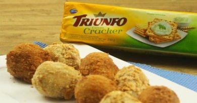 Coxinhas de Frango com Biscoito Cracker