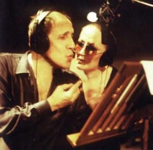 Mina e Celentano in studio