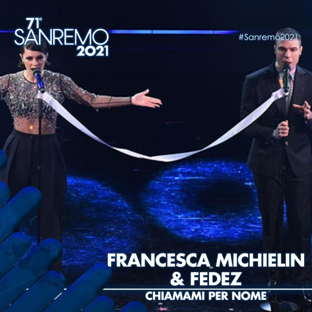 Francesca Michielin e Fedez - Sanremo 2021