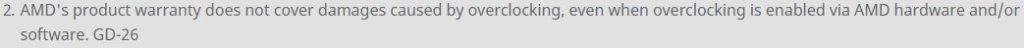 garanzia overclock amd