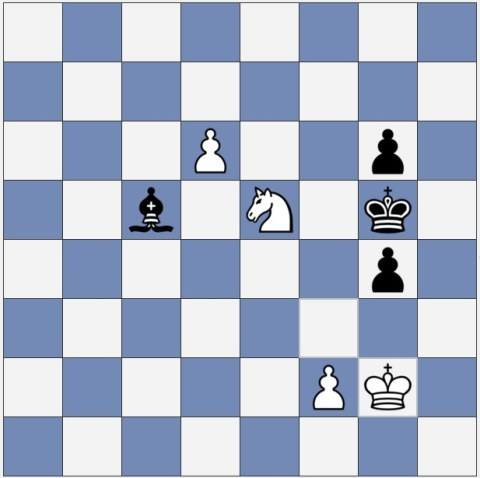 White wins this chess endgame, even thought it's Black's turn to move