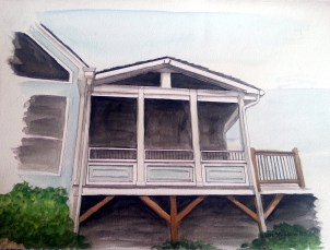 Back Porch Rendering for client