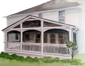Back porch rendering for Decks and More
