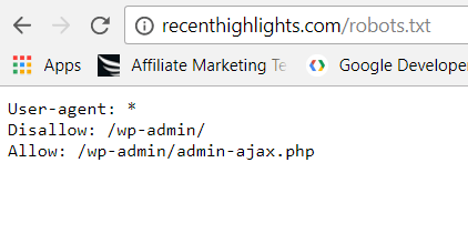 Submitted URL Blocked By Robots.txt