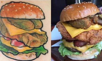 LIFETIME FREE BURGERS: Want A Free Burgers For A Lifetime? Get One Tattooed First