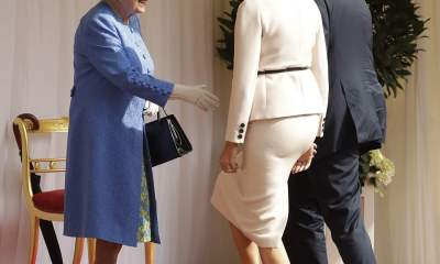 Social Media Bursts: After Trump Walks in Front of Queen Elizabeth
