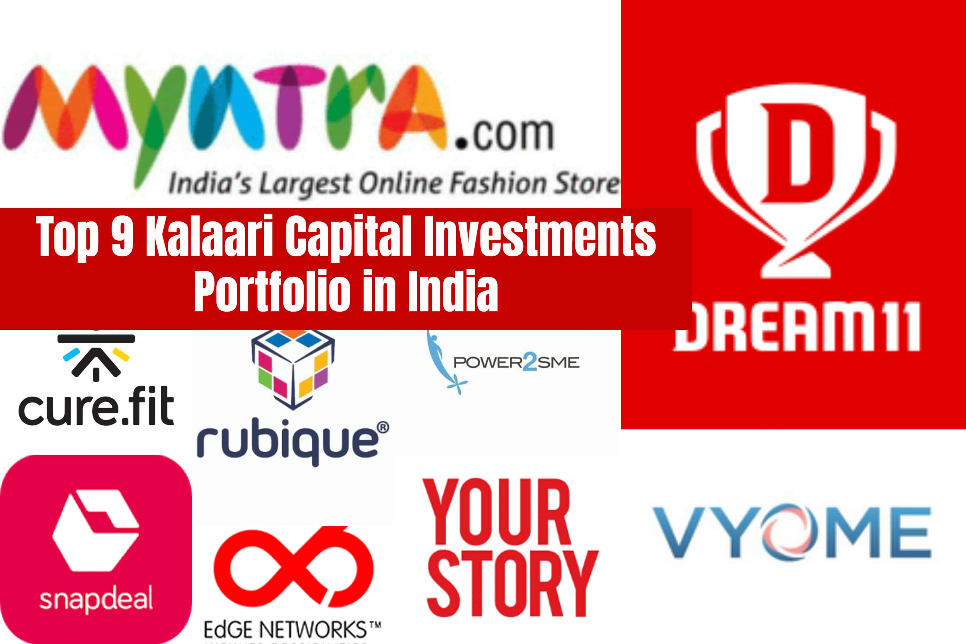 Top 9 Kalaari Capital Investments Portfolio in India