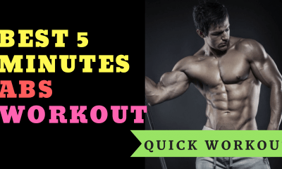 Quick Workout: Best 5 Minutes Abs Workout