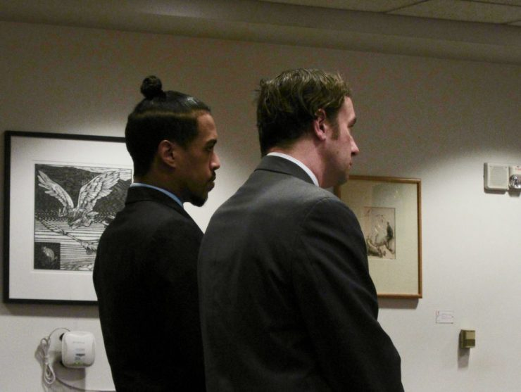 Rhodes pleaded guilty to two counts of felony second-degree sexual abuse but was spared prison by the judge.