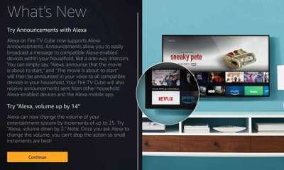 Amazon Fire TV Cubes Receive Alexa Announcement Functionality