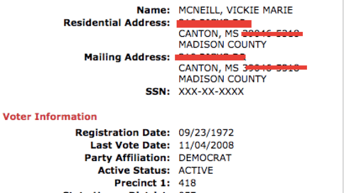 arrested for running voter fraud ting in mississippi
