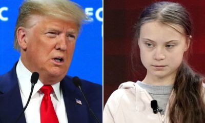 President Trump Takes On Greta Thunberg In Davos