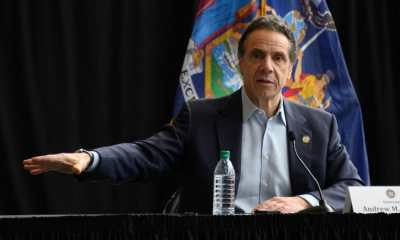 New York Gov. Andrew Cuomo speaks during a news conference at the Jacob Javits Convention Center on March 30, 2020, in New York City.